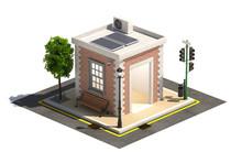 Empty Micro City Building 3d Render