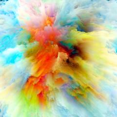 FototapetaEmergence of Color Splash Explosion