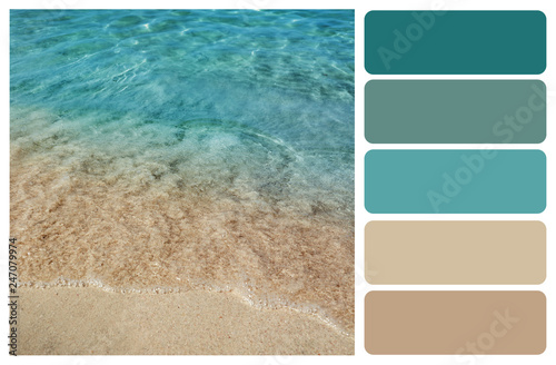 obraz PCV Picturesque view of beautiful seashore. Color palette