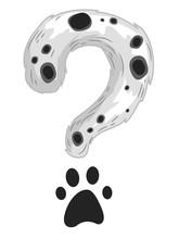 Question Mark Dalmatian Paw Illustration