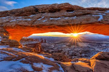 Winter Sunrise Mesa Arch
