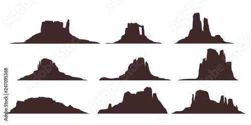 Foto auf Gartenposter Weiß desert moountains set