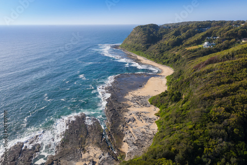 Poster Oceanië Aerial view of Dudley Bluff - Newcastle Australia