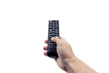 Hand Holding Remote Controller...
