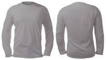 Gray Long Sleeved Shirt Design...