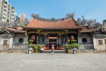 Longshan Temple In Taiwan. Loc...