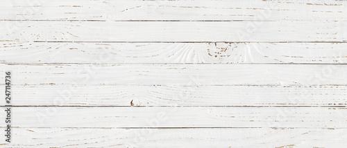 Fotografija white wood texture background, top view wooden plank panel