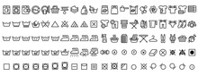 Laundry Icons Set. Outline Set...