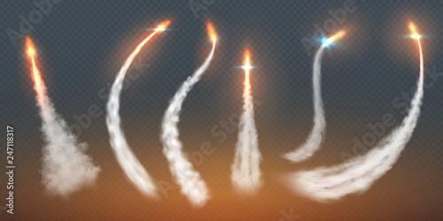 Rocket condensation trails Fototapet