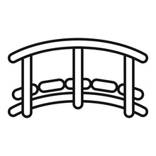 Small Wood Bridge Icon. Outline Small Wood Bridge Vector Icon For Web Design Isolated On White Background