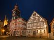 Nachts am Marktplatz in Heppenheim an der Bergstraße, Hessen, Deutschland
