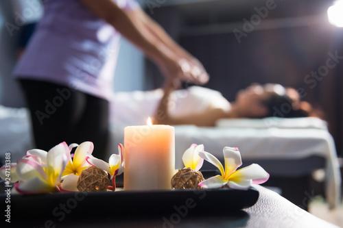Fotografija  massage decoration with blur Thai massaging