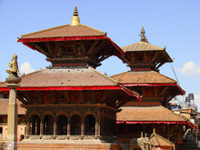 Temples Of Patan With Red Roof...