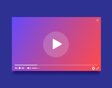 Modern Video Player. Vector Il...