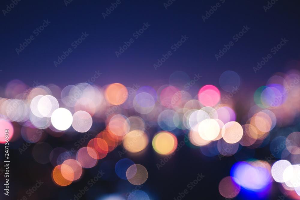 Fototapety, obrazy: City light bokeh