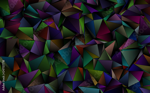 Fototapety, obrazy: Triangular 3d, modern background