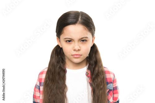 Fototapeta Kid girl suspect you