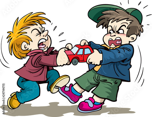 Cartoon Kids Fighting Over A Toy Buy This Stock Vector And Explore Similar Vectors At Adobe Stock Adobe Stock
