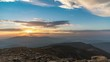 Sunset over mountains of Beskid (4k UHD time lapse total shoot)