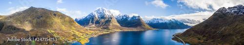 Drone view on the Lofoten