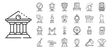 Museum Icons Set. Outline Set ...