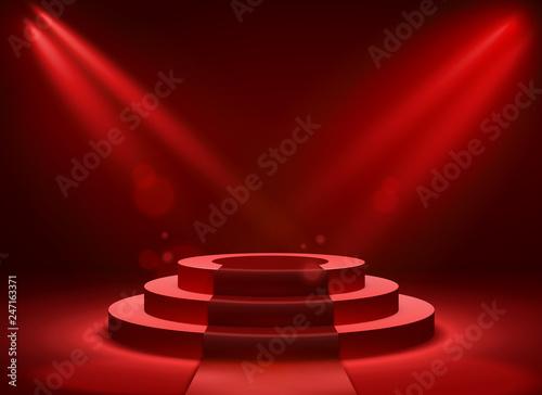 Fotomural Stage podium lighting