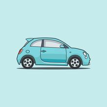 Blue Electro Car, Car, Electro...