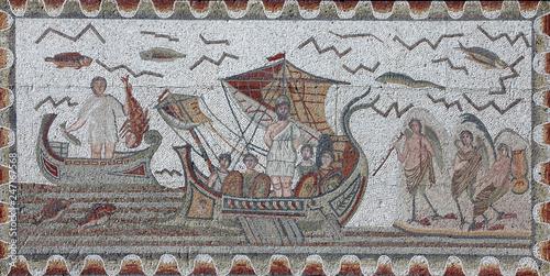 Fotografia Ancient Roman mosaic