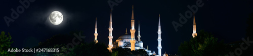Stampa su Tela Blue Mosque or Sultanahmet at night, Istanbul, Turkey