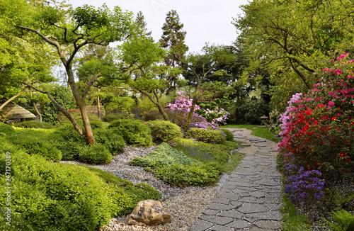 Αφίσα  Ornamental garden in spring, Troja Botanical Gardens Prague Czech Republic