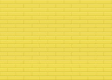 Simple Yellow Rectangle Ceramic Mosaic Tiles Texture Background. Horizontal Picture.