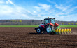 Leinwanddruck Bild - Agricultural machinery, sowing.