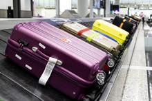 Baggage Luggage On Conveyor Ca...