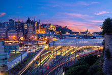 Night View Of Waverley Station...