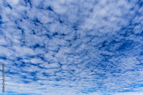 Foto op Plexiglas Arctica blue sky background with tiny clouds