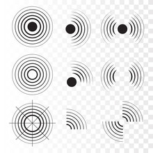 Set Of Radar Icons. Sonar Soun...