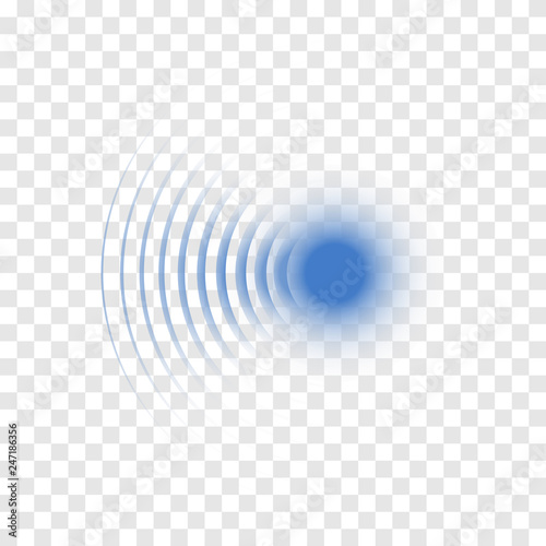 Fotografía  Sonar wave sign. Vector illustration. Radar icon