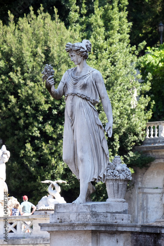 Valokuva  Allegorical statue of Summer, Piazza del Popolo in Rome, Italy