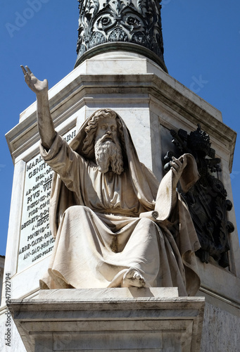 Photo  Seer Ezekiel by Carlo Chelli on the Column of the Immaculate Conception on Piazz