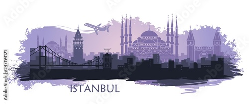 Photo  Landscape of the Turkish city of Istanbul