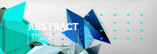Photo Triangles background techno template