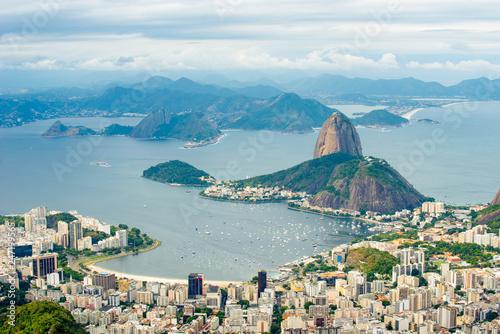 Photo  Suggar Loaf from Corcovado - Rio de Janeiro, Brazil.