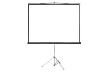 Isloated Projector Screen With Blank Copy Spacei On White Background
