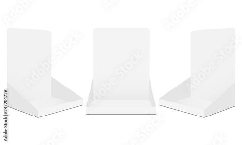 Set of cardboard display boxes mockups isolated on white background Slika na platnu