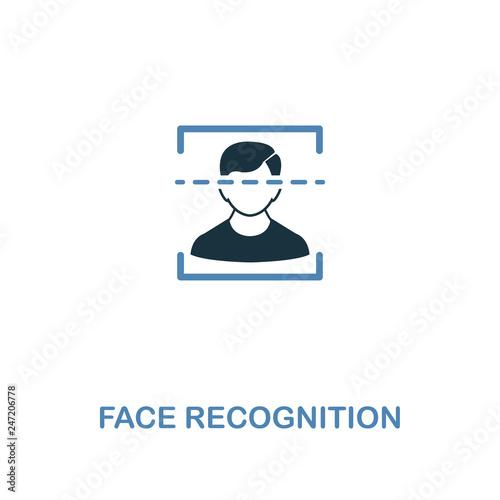 Fotografía  Face Recognition icon in 2 colors style design