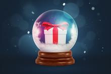 3d Rendering Of Christmas Snow...