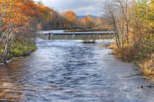Mill Dam In Westfield, Massachusetts, USA