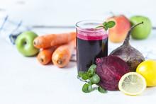 Fresh Juice From Homemade Vege...