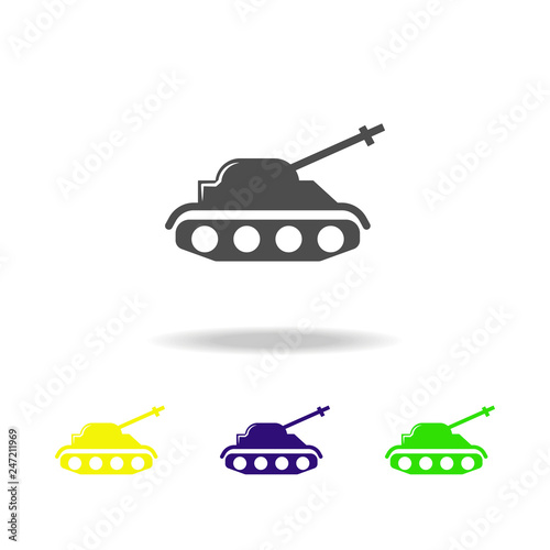 tank, weapons colored icons  Element of military illustration  Signs
