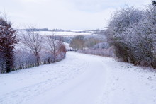 Yorkshire Wolds Road In Winter...